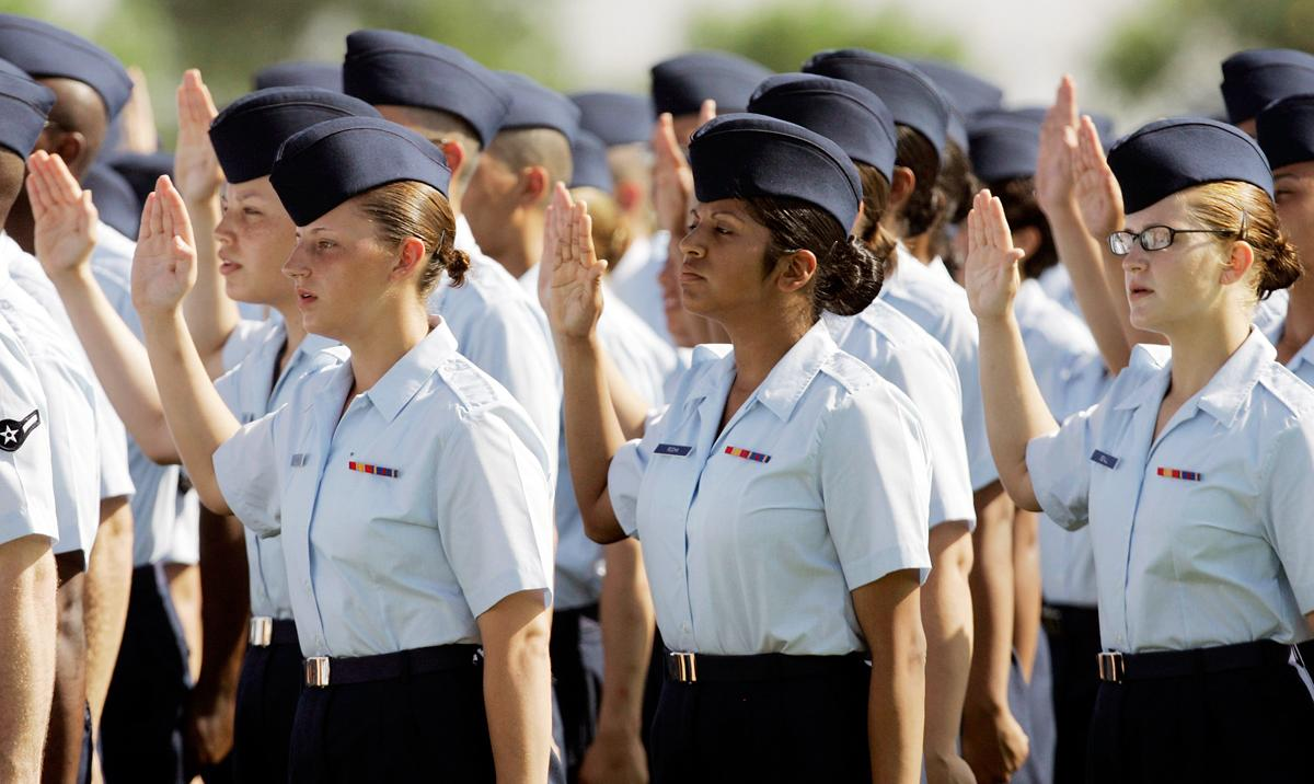Charges of sexual assault against female recruits at Lackland Air Force Base in Texas unearthed the Air Force sex scandal. Investigations found endemic abuse at the Air Force's primary training facility. (Eric Gay/AP Photo)