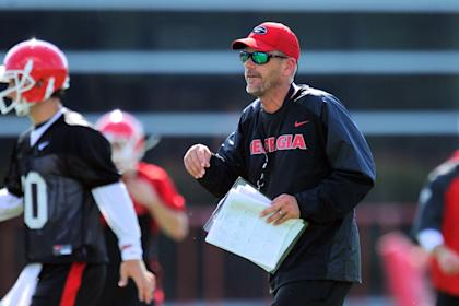 Mike Bobo shown during a practice at the University of Georgia. (USAT)