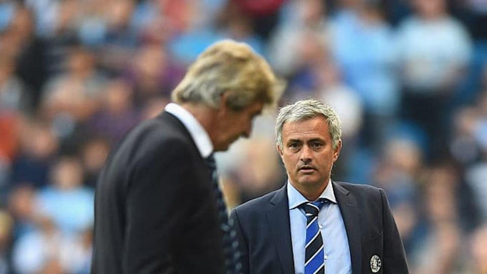 Mourinho y Pellegrini | Laurence Griffiths/Getty Images