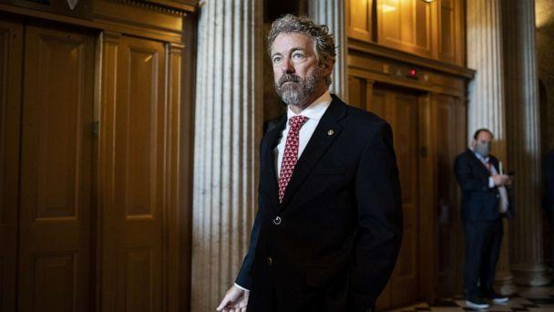 PHOTO: Senator Rand Paul, a Republican from Kentucky, departs following a vote at the U.S. Capitol in Washington, D.C., May, 14, 2020. (Al Drago/Bloomberg via Getty Images)