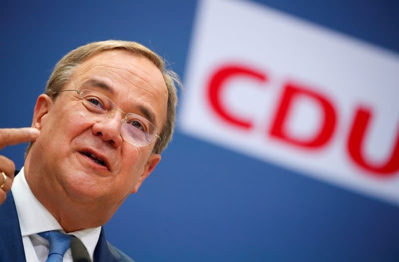 FILE PHOTO: CDU candidate for chancellor Laschet holds news conference in Berlin
