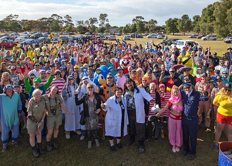 300 brave participants from right around the left Adelaide for a mysterious five-day round-trip adventure with no clue where they were headed. Source: Chris Ashton