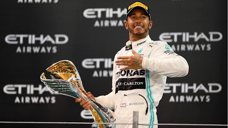 Lewis Hamilton hails 'best season of my life' after collecting F1 World Championship trophy