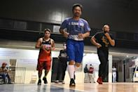 """Pacquiao promises to pull no punches if he were to become president -- starting with sending """"hundreds or thousands"""" of crooked politicians to a purpose-built """"mega prison"""""""