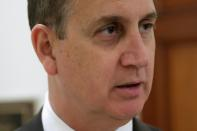 FILE PHOTO: U.S. Rep. Mario Diaz-Balart (R-FL) speaks during an interview for Reuters on Capitol Hill in Washington