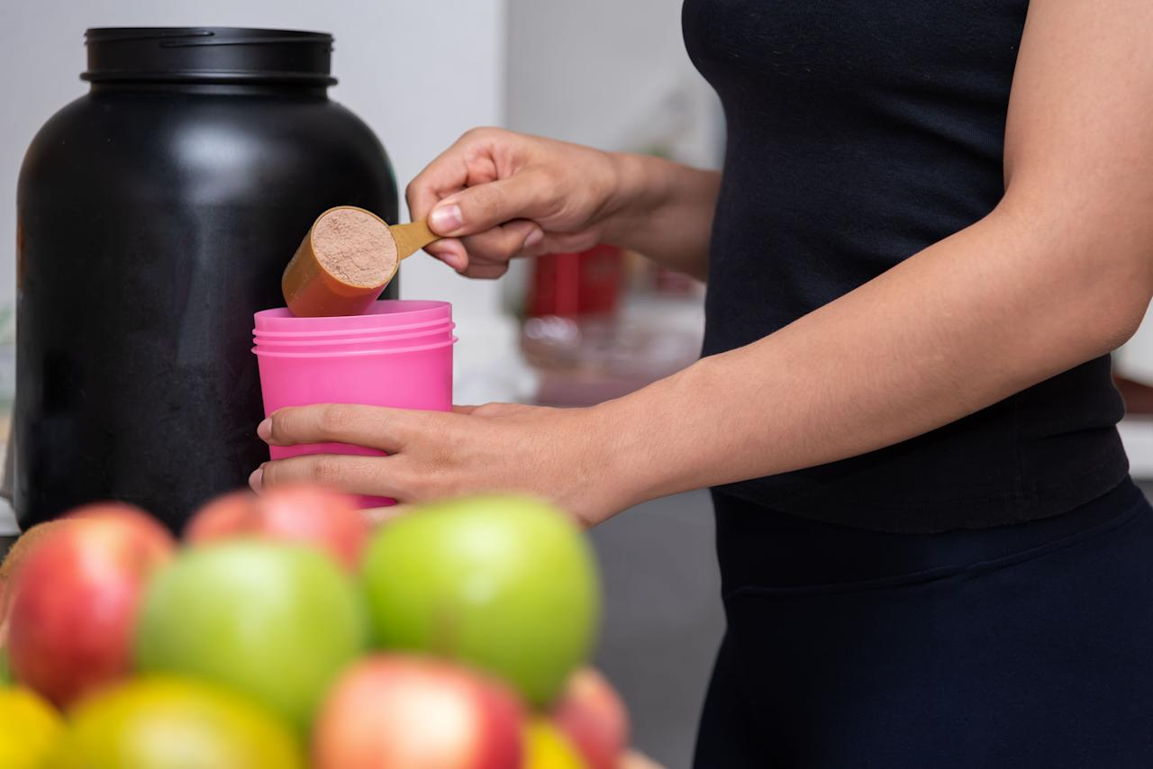 "<p>After hitting the gym, your muscles may need a little extra help with recovery. Consuming protein powder directly after a <a rel=""nofollow"" href=""https://www.womansday.com/health-fitness/workout-routines/advice/g440/10-best-fitness-dvds-104111/"">work out</a> helps repair tissue to build muscle and enhance strength and endurance, says <a rel=""nofollow"" href=""http://erinpalinski.com/"">Erin Palinski-Wade, R.D.,</a> author of <a rel=""nofollow"" href=""https://www.amazon.com/Belly-Diet-Dummies-Erin-Palinski-Wade/dp/1118345851""><em>Belly Fat Diet for Dummies</em></a>. There are a ton of options when it comes to protein powder, so we asked six nutritionists to share the ones they think women should have stocked in their pantries.</p>"