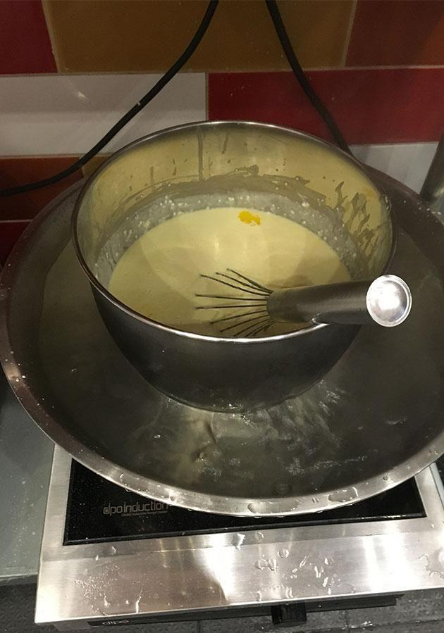 The mix is then melted together. Photo: Yahoo7 Be