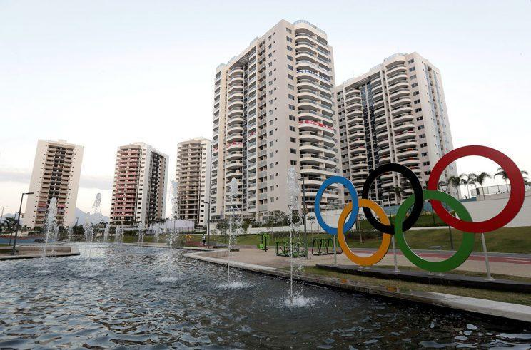 General view of athletes' accommodation can be seen during a guided tour for journalists to the 2016 Rio Olympics Village in Rio de Janeiro, Brazil, July 23, 2016. REUTERS/Ricardo Moraes - RTSJD0N
