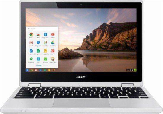 """Full price: $280<br /><a href=""""https://www.bestbuy.com/site/acer-r-11-2-in-1-11-6-touch-screen-chromebook-intel-celeron-4gb-memory-16gb-emmc-flash-memory-white/5202900.p?skuId=5202900"""" target=""""_blank"""">Sale price: $180</a>"""