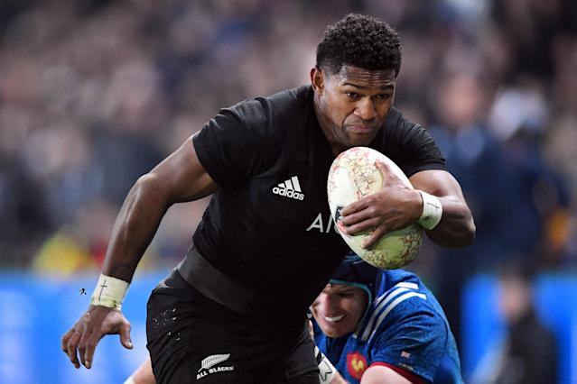 Rugby Union - June Internationals - New Zealand vs France - Forsyth Barr Stadium, Dunedin, New Zealand - June 23, 2018 - Waisake Naholo of New Zealand runs with the ball. REUTERS/Ross Setford