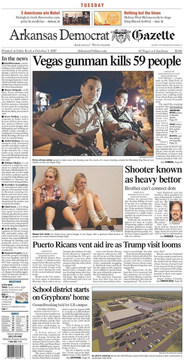 "<p>""Arkansas Democrat-Gazette,"" published in Little Rock, Ark. (newseum.org) </p>"