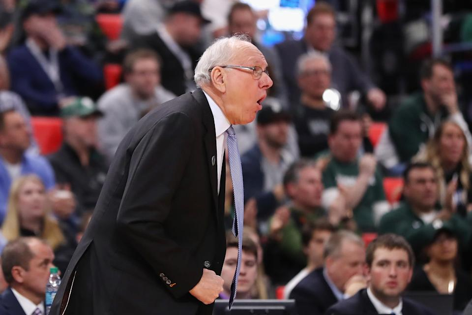 Jim Boeheim outcoached Tom Izzo down the stretch in Syracuse's upset of Michigan State. (Getty)