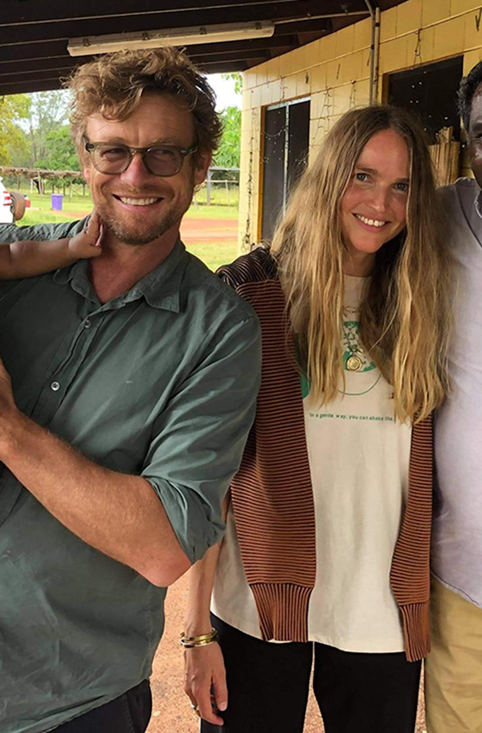 Simon Baker, 51, has made things 'Facebook official' with his new girlfriend Laura May Gibbs, 36. Photo: Facebook.