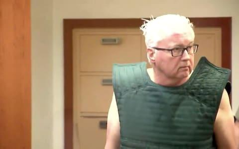 Gary Charles Hartman appearing in court charged with the rape and murder of Michella Welch