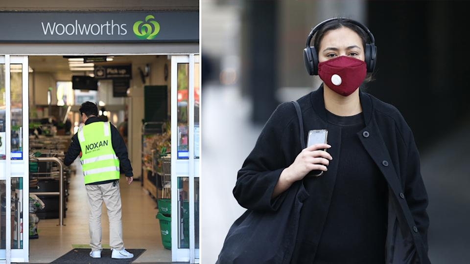 From August 3 Woolworths is asking all staff and customers to wear a mask when entering any of their stores in NSW or the ACT
