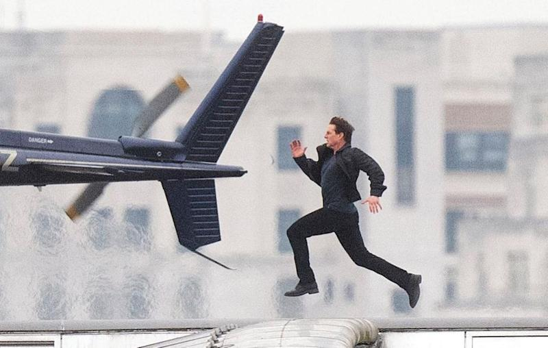 The actor is pictured here filming Mission: Impossible - Fallout in London. Source: Getty