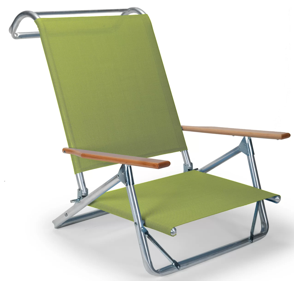 """<h2>Perigold Original Mini-Sun Beach Chair</h2><br>Reviewers on Perigold applaud this chair for its, """"lightweight yet quality construction."""" Each colorful seat can hold up to 300-pounds and comes with three-position adjustable arms to help you achieve the perfect midday nap posture. <br><br><em>Shop</em> <strong><em><a href=""""https://www.perigold.com/brand/bnd/telescope-casual-b134.html"""" rel=""""nofollow noopener"""" target=""""_blank"""" data-ylk=""""slk:Telescope Casual"""" class=""""link rapid-noclick-resp"""">Telescope Casual</a></em></strong><br><br><strong>Telescope Casual</strong> Original Mini-Sun Beach Chair, $, available at <a href=""""https://go.skimresources.com/?id=30283X879131&url=https%3A%2F%2Fwww.perigold.com%2Fhome%2Fpdp%2Ftelescope-casual-original-mini-sun-beach-chair-te2459.html"""" rel=""""nofollow noopener"""" target=""""_blank"""" data-ylk=""""slk:Perigold"""" class=""""link rapid-noclick-resp"""">Perigold</a>"""