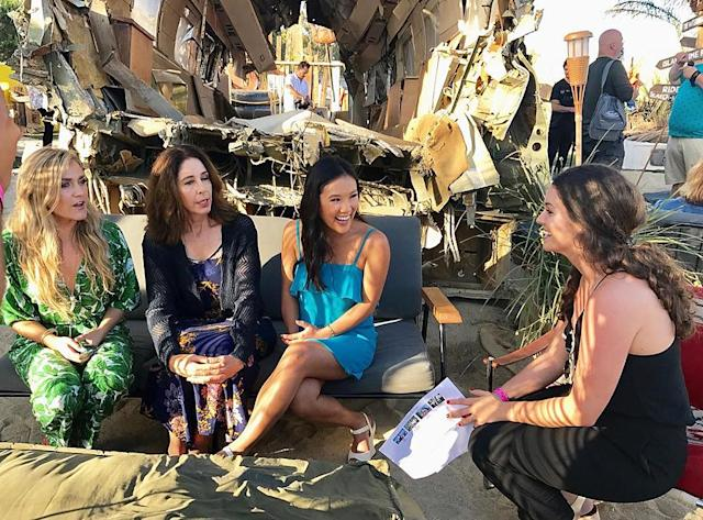 <p>Having an amazing time doing interviews on the #wrecked barge! — @allymaki </p>