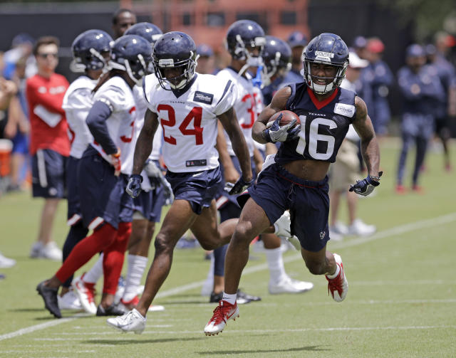 Rookie Keke Coutee led the Texans in receiving yards and targets in his return from injury. (AP Photo/David J. Phillip)