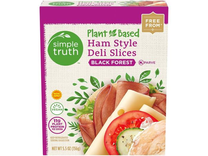 A box of Simple Truth plant-based deli slices.