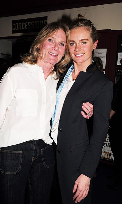Cressida Bonas and her mother