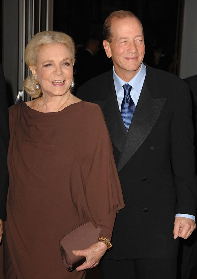"""<a href=""""http://movies.yahoo.com/movie/contributor/1800028466"""">Lauren Bacall</a> and Stephen Bogart at the Academy of Motion Picture Arts and Sciences' Inaugural Governors Awards - 11/14/2009"""