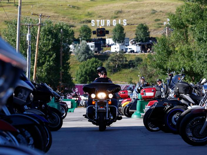 "Sturgis' motorcycle rally, held between August 7 and 16, was one of the largest public gatherings in the US since the coronavirus pandemic began. <p class=""copyright"">Jim Urquhart for Insider</p>"