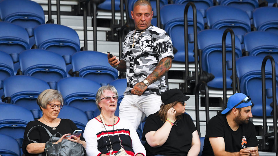 Toby Mitchell, pictured here during Naomi Osaka's clash with Caroline Garcia at the Australian Open.
