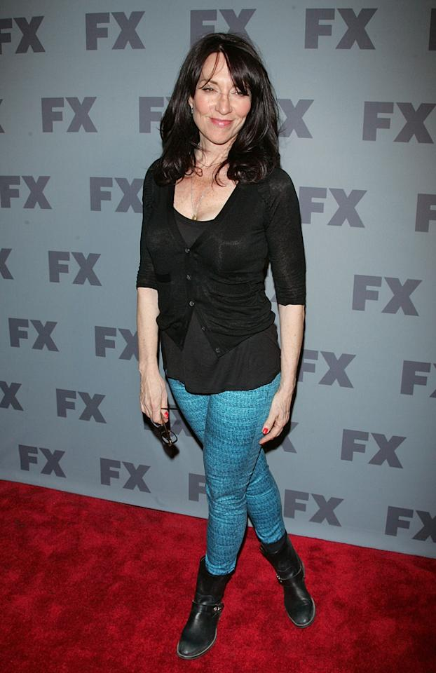 """Katey Sagal (""""<a href=""""http://tv.yahoo.com/sons-of-anarchy/show/40546"""">Sons of Anarchy</a>"""") attends FX's 2012 Upfronts at Lucky Strike on March 29, 2012 in New York City."""