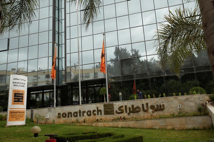 View of the headquarter of the state energy company Sonatrach in Algiers,