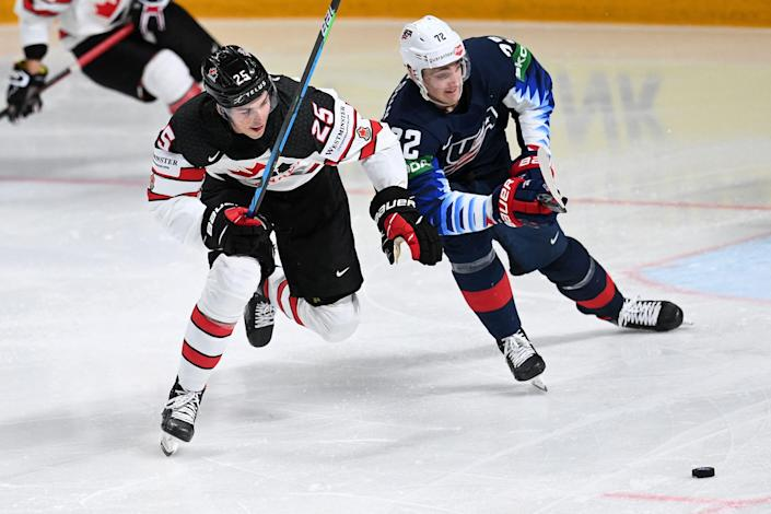 Owen Power played against older players at the world championships and helped Canada win a gold medal.