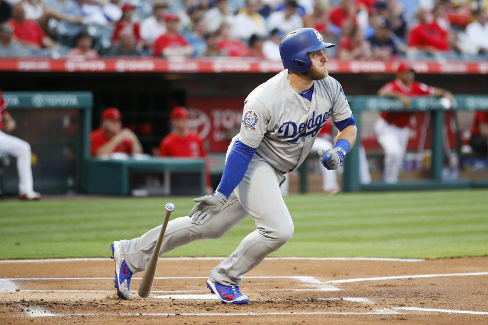 Max Muncy is a breakout hitter for the Los Angeles Dodgers this season and sits right in the middle of the team's rebirth in the NL West. (AP Photo/Jae C. Hong)