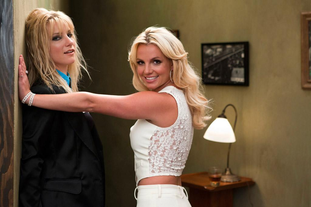"It's a Britney/Brittany-off! Pop star Britney Spears posted the first shot of her guest spot on ""Glee"" Thursday, dropping a hint that she and Heather Morris (Brittany) were filming a scene inspired by her hit video, ""Me Against The Music,"" by tweeting ""All my GLEEKERS in the crowd, Grab a partner take it down."" ©FOX"