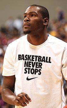 Kevin Durant might sign with an overseas team if the lockout doesn't end next week