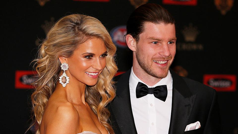 Seen here, Bryce and Lauren Gibbs at the 2016 Brownlow Medal ceremony.