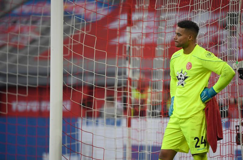 Zack Steffen missed both November games for the USMNT with knee tendonitis, then had a rough outing for Fortuna Duesseldorf against Bayern Munich in his return. (Ina Fassbender/Getty)