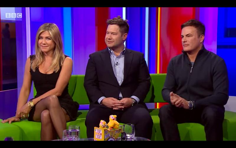 Jennifer Aniston revealed that she watches 'Friends' reruns during an appearance on BBC's 'The One Show' — watch the video!
