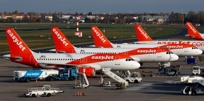 easyJet says will ground most of its fleet from Tuesday