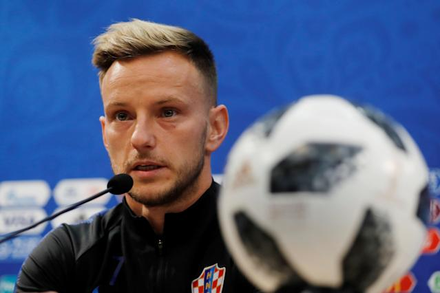 Soccer Football - World Cup - Croatia Press Conference - Nizhny Novgorod Stadium, Nizhny Novgorod, Russia - June 20, 2018 Croatia's Ivan Rakitic during the press conference REUTERS/Carlos Barria