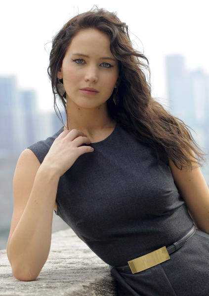 """Jennifer Lawrence, a cast member in the film """"Silver Linings Playbook,"""" poses for a portrait at the 2012 Toronto Film Festival, Friday, Sept. 7, 2012, in Toronto. (Photo by Chris Pizzello/Invision/AP)"""