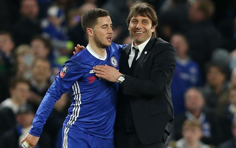 Eden Hazard has enjoyed working with Chelsea manager Antonio Conte - Rex Features