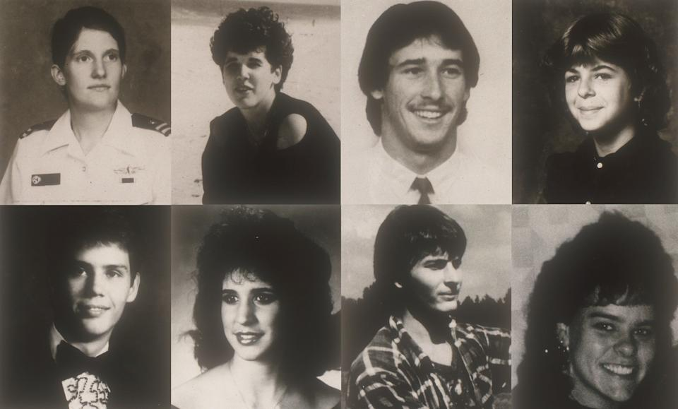 """The victims, eight in all, came in pairs. Many were young lovers who apparently met their fates mid-assignation. Each of the homicides occurred along the scenic 23-mile route between Jamestown and Yorktown in Virginia, giving them a ready name: the Colonial Parkway murders. Due to the shared location and other similarities among the deaths, law enforcement officials viewed them as the work of a possible serial killer. <br /><br /><strong>Read More:</strong> <a href=""""https://web.archive.org/web/20121127145320/http://www.aolnews.com/2010/03/30/unsolved-murders-of-young-lovers-get-new-focus-in-va"""" target=""""_blank"""">Unsolved Murders Of Young Lovers In Va.</a>"""