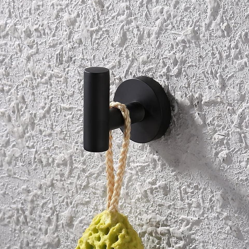 <p>This heavy-duty <span>KES Bathroom Towel Hook</span> ($9) can hold up to 15 pounds.</p>
