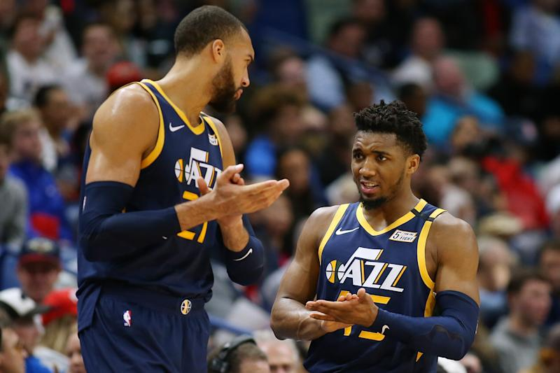 How will the soured relationship between Rudy Gobert and Donovan Mitchell manifest itself on the court? (Jonathan Bachman/Getty Images)