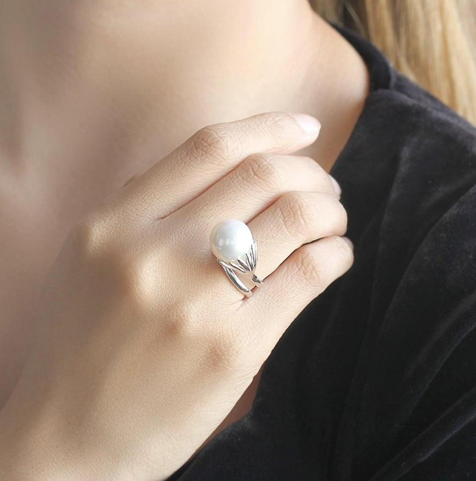 <p>This <span>Genuine Pearl Ring</span> ($93) promises a happy ending.</p>