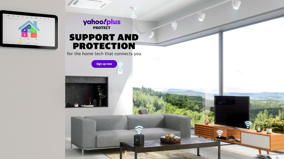 Yahoo Plus Protect Home is a new service created by Yahoo Life's parent company, Verizon Media.