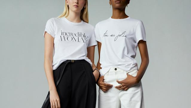 Net-A-Porter launch third partnership with charity Women for Women International ahead of International Women's Day. (Net-A-Porter)