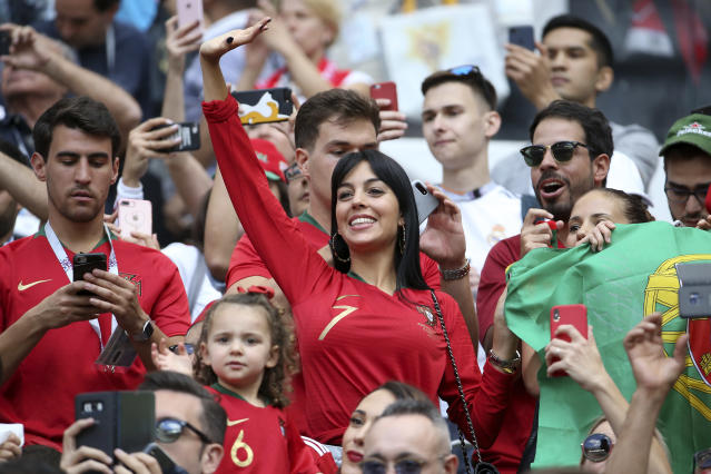 <p>Georgina Rodriguez, girlfriend of Cristiano Ronaldo of Portugal </p>