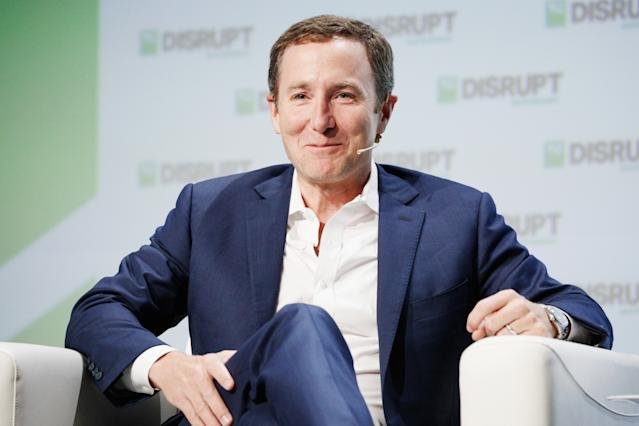 Peloton founder and CEO John Foley has good reason to smile this year. (Photo by Kimberly White/Getty Images for TechCrunch)