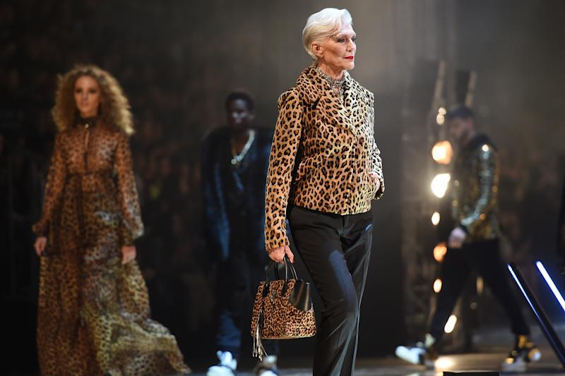 The catwalk took nine minutes to walk. (Getty Images)